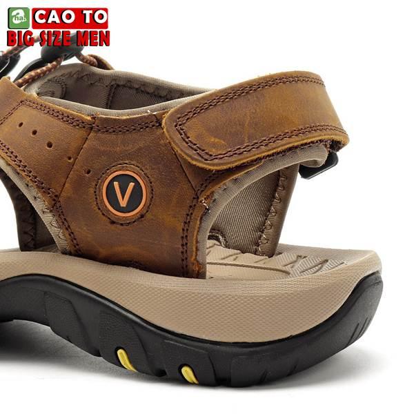 Giày Sandal Bít Mũi Anti-collision Outdoor Vàng Nâu 8