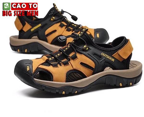 Giày Sandal Bít Mũi Outdoor Màu Nâu Bigsize Men 1