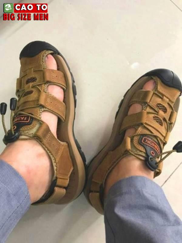 Giày Sandal Bít Mũi Anti-collision Outdoor Vàng Nâu 5