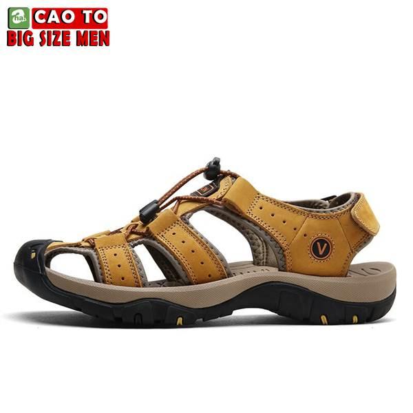 Giày Sandal Bít Mũi Anti-collision Outdoor Vàng Nâu 11