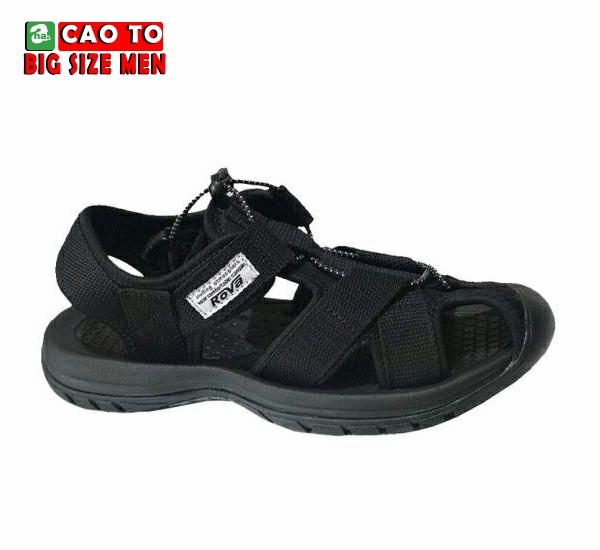 Giày Sandal Bít Mũi Kingdom Màu Đen Bigsize 10