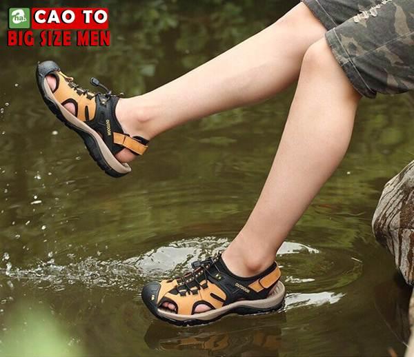 Giày Sandal Bít Mũi Outdoor Màu Nâu Bigsize Men 2