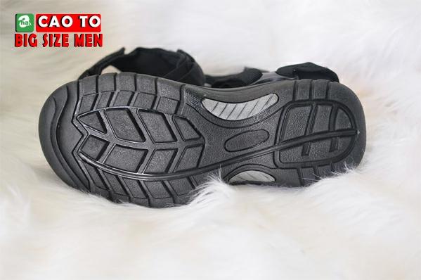 Giày Sandal Bít Mũi Kingdom Màu Đen Bigsize 11