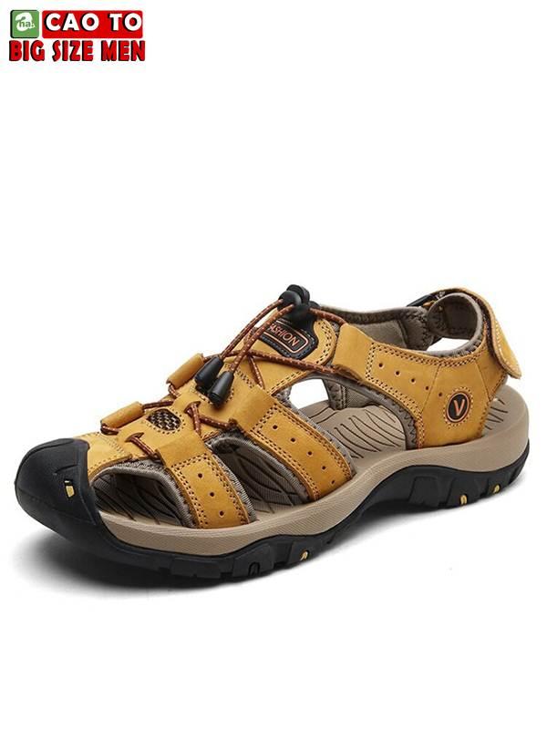Giày Sandal Bít Mũi Anti-collision Outdoor Vàng Nâu 12