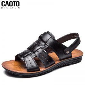 Giày Sandal Slider Grow Màu Nâu Big Size Men