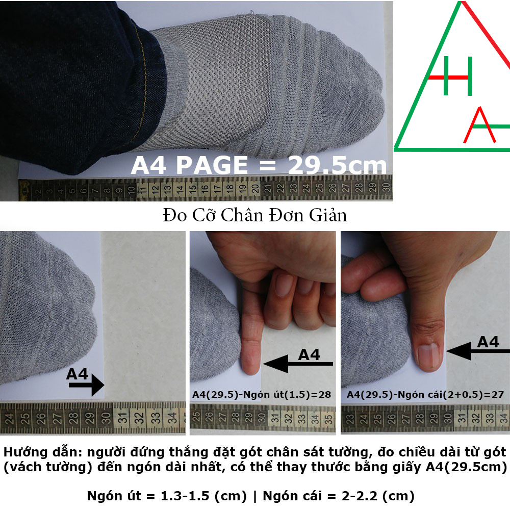 Cách đo size chân 3