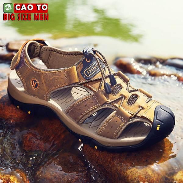 Giày Sandal Bít Mũi Anti-collision Outdoor Vàng Nâu 6