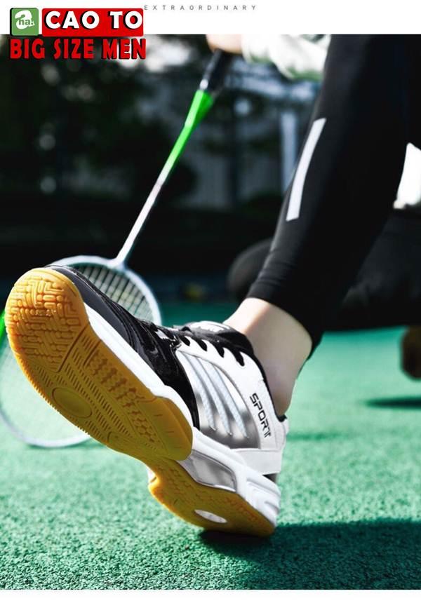 Giày Cầu Lông Sport Đẳng Cấp Trắng Đen Big Size 1