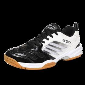 Giày Cầu Lông Sport Đẳng Cấp Trắng Đen Big Size 45-46-47-48
