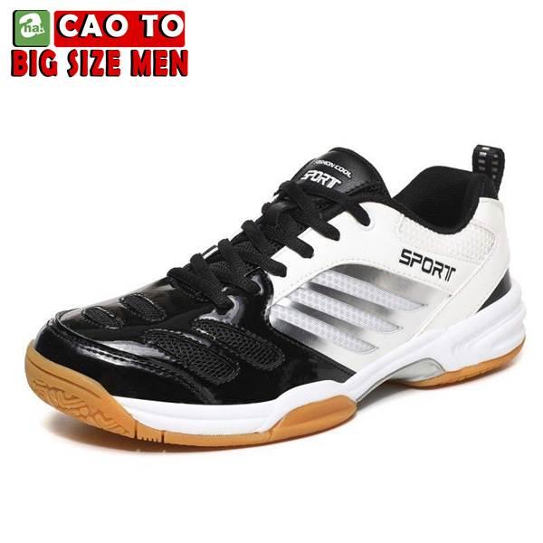 Giày Cầu Lông Sport Đẳng Cấp Trắng Đen Big Size 2