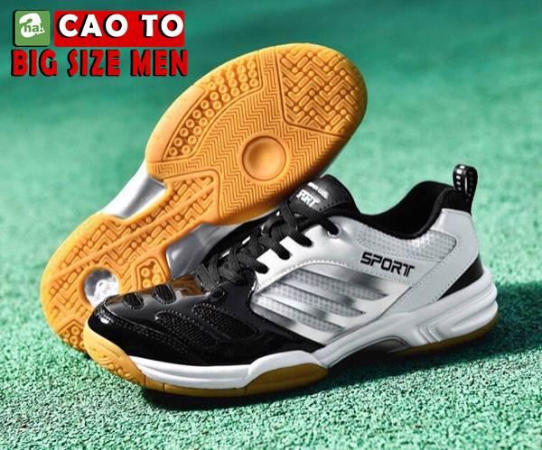Giày Cầu Lông Sport Đẳng Cấp Trắng Đen Big Size 4