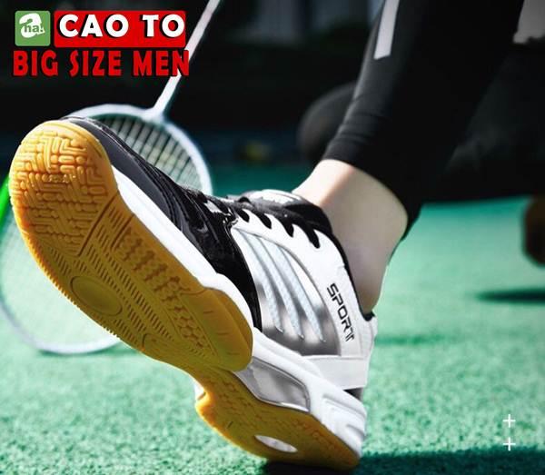 Giày Cầu Lông Sport Đẳng Cấp Trắng Đen Big Size 5
