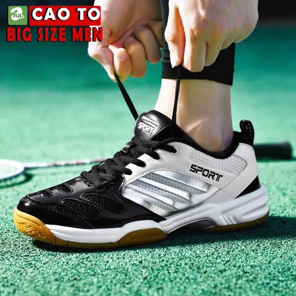 Giày Cầu Lông Sport Đẳng Cấp Trắng Đen Big Size 7