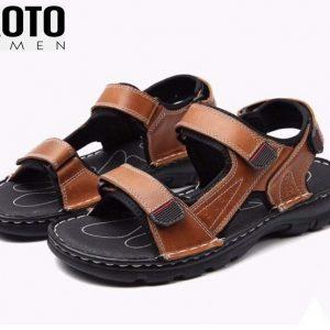 Giày Sandal Châu Âu Olist Màu Nâu Thời Trang Big Size Men
