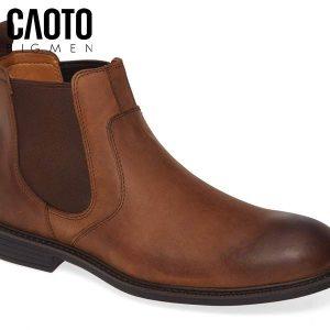 Giày Chelsea Boots Hollis Tan Da Nâu Big Size