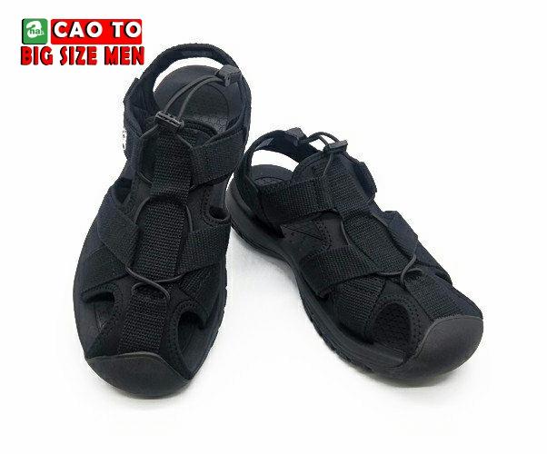 Giày Sandal Bít Mũi Kingdom Màu Đen Bigsize 8