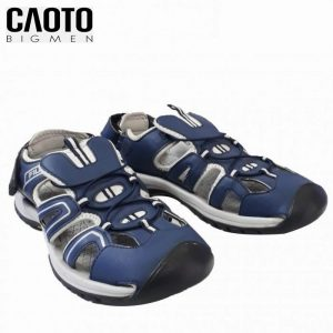 Giày Sandal Big Size Fila Bịt Mũi Xanh Than