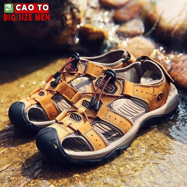 Giày Sandal Bít Mũi Anti-collision Outdoor Vàng Nâu 1