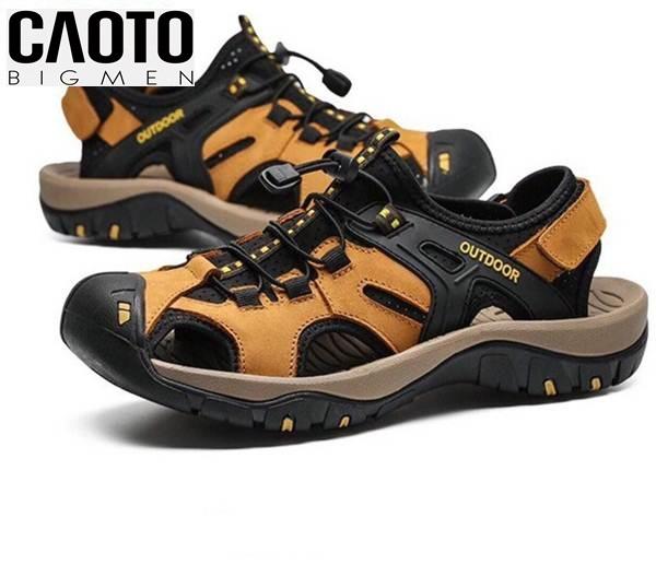 Giày Sandal Bít Mũi Outdoor Màu Nâu Bigsize Men