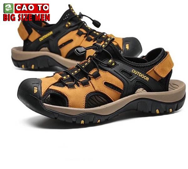 Giày Sandal Bít Mũi Outdoor Màu Nâu Bigsize Men 7