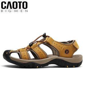 Giày Sandal Bít Mũi Anti-collision Outdoor Vàng Nâu Big Size Men