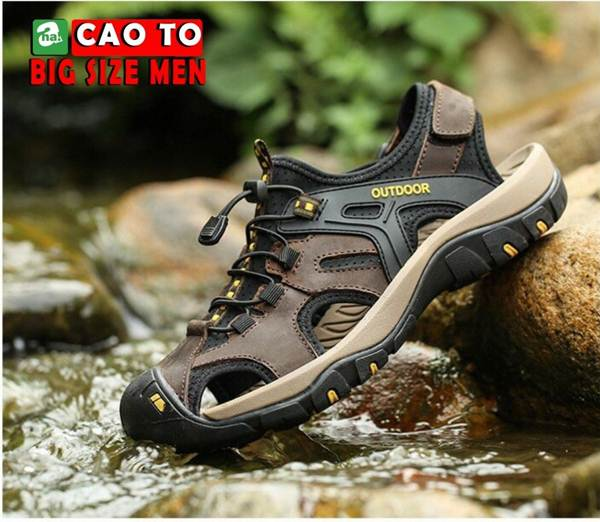 Giày Sandal Bít Mũi Outdoor Màu Nâu Bigsize Men 9