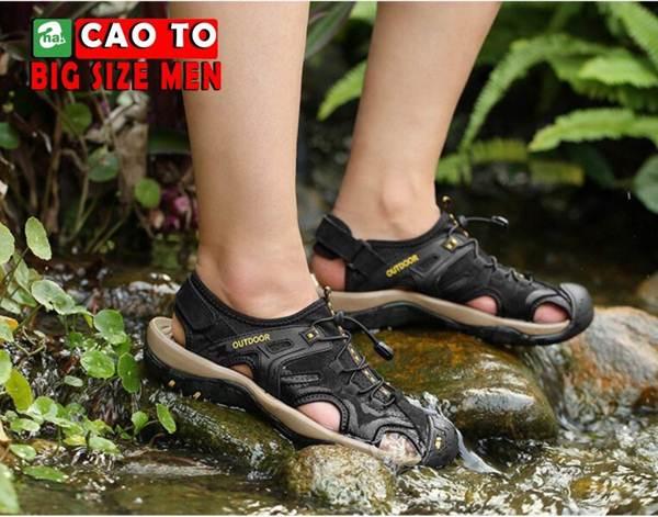 Giày Sandal Bít Mũi Outdoor Màu Nâu Bigsize Men 10