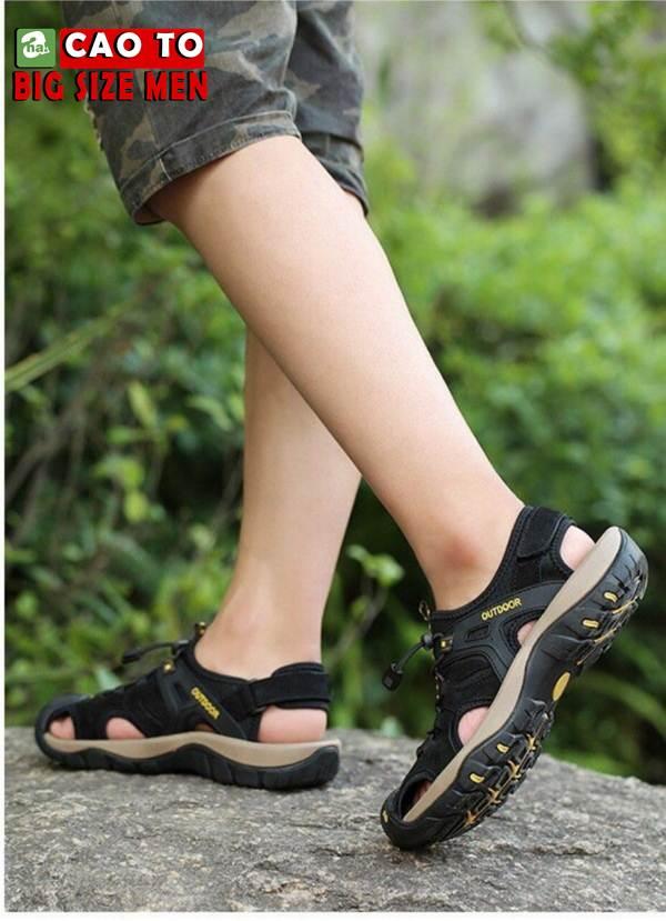 Giày Sandal Bít Mũi Outdoor Màu Nâu Bigsize Men 11