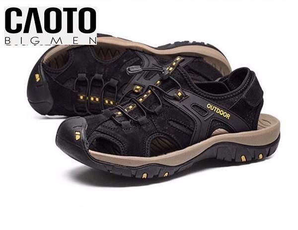 Giày Sandal Bít Mũi Bigsize Men Outdoor Màu Đen