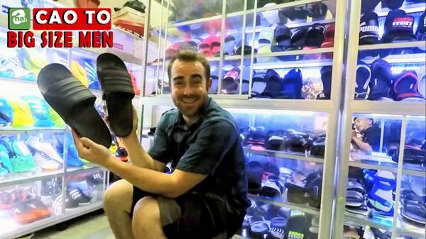 giày sandal bít mũi bigsize 13
