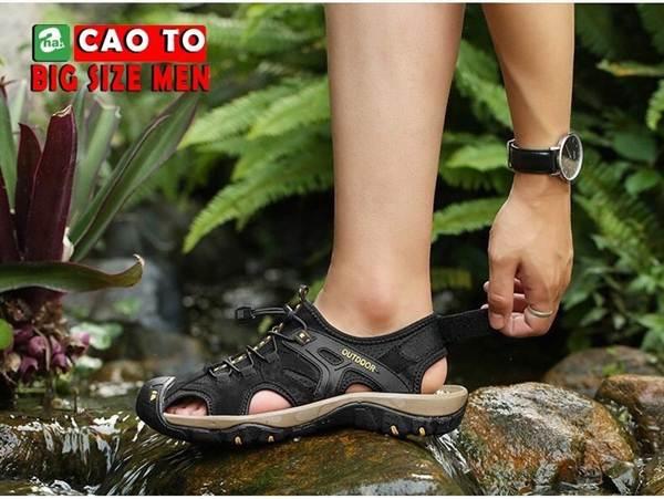 giày sandal bít mũi bigsize 11