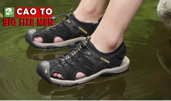 Giày Sandal Bít Mũi Outdoor Màu Nâu Bigsize Men 8