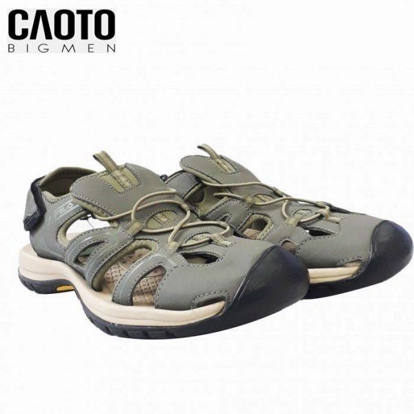 Sandal Fila Nam Big Size Bịt Mũi Xanh Rêu