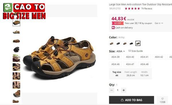 Giày Sandal Bít Mũi Anti-collision Outdoor Vàng Nâu 2