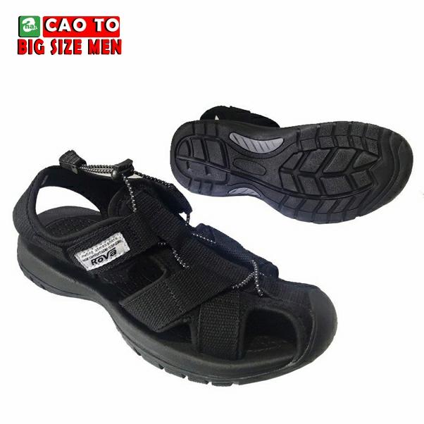 Giày Sandal Bít Mũi Kingdom Màu Đen Bigsize 4