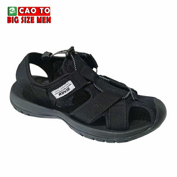 Giày Sandal Bít Mũi Kingdom Màu Đen Bigsize 1