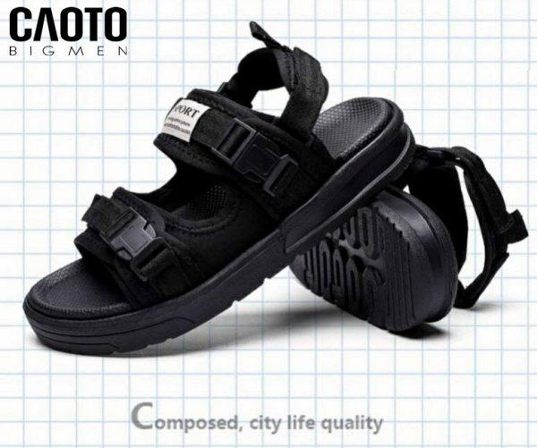 Sandal Phong Cách Nam Bigsize Full Đen 45 46 47 48