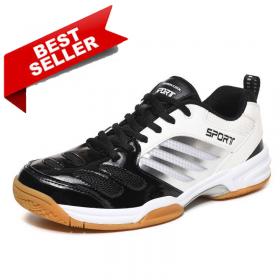 Giày Cầu Lông Sport Thời Trang Cao Cấp Trắng Đen Size Lớn