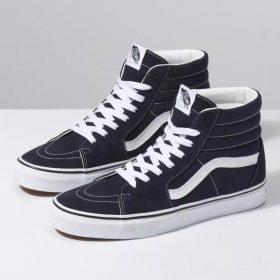 Giày Sneaker Cổ Cao Vans Size Lớn Sk8-HI Đen Viền Trắng